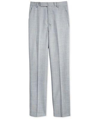 Calvin Klein Sharkskin Deco Suiting Pants, Big Boys