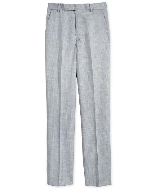 Sharkskin Deco Suiting Pants, Big Boys