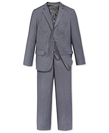 Calvin Klein Fine Line Twill Suit Jacket & Pants, Big Boys