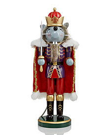 "Holiday Lane 14"" Mouse King Statue Nutcracker Suite, Created for Macy's"