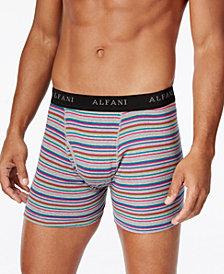 Alfani Men's 4-Pk. Striped Boxer Briefs, Created for Macy's
