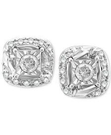 Diamond Stud Earrings (1/5 ct. t.w.) in 14k White Gold