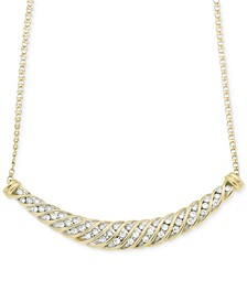 Diamond Channel-Set Collar Necklace (1/2 ct. t.w.) in 10k Gold, Created for Macy's