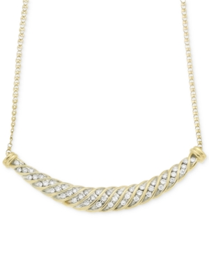Wrapped in Love Diamond Channel-Set Collar Necklace (1/2 ct. t.w.) in 10k Gold, Created for Macy's