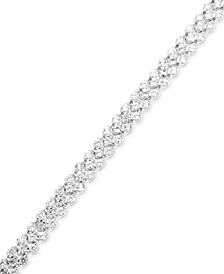 Diamond Three-Row Bracelet (4 ct. t.w.) in 14k White Gold
