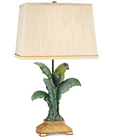 Pacific Coast Tropical Parrot Table Lamp