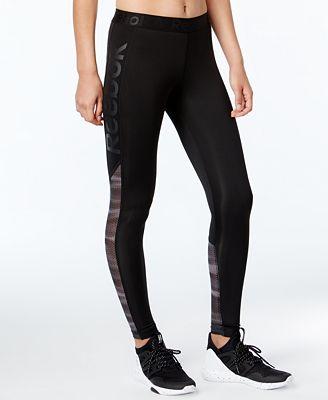 reebok leggings. reebok speedwick logo leggings
