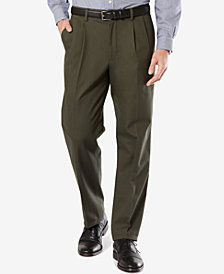 Dockers Men's Stretch Classic Fit Signature Khaki Pants Pleated D3