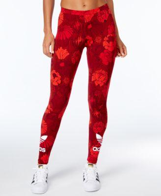 Red Printed Leggings