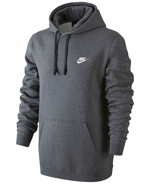 Nike Men s Pullover Fleece Hoodie - Hoodies   Sweatshirts - Men - Macy s 79e3572c09df