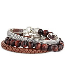Esquire Men's Jewelry Stackable Bracelets, Created for Macy's