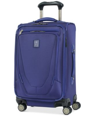 """Crew 11 21"""" Expandable Spinner Carry-On Suiter Suitcase with USB charging port"""