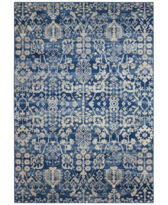 "CLOSEOUT! Moraine MO757 Navy 7'9"" x 10'10"" Area Rug"