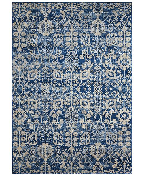 "Nourison CLOSEOUT! Moraine MO757 Navy 7'9"" x 10'10"" Area Rug"