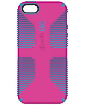 SPECK Candyshell Grip Phone Case For Iphone 5/5S/Se in Lipstick Pink/Jay Blue
