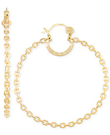 SIS by Simone I Smith Interlocking Medium Hoop Earrings in 18k Gold-Plated Sterling Silver
