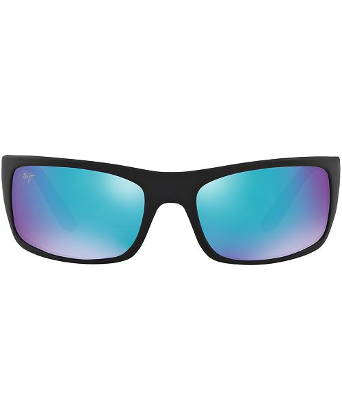 Maui Jim Polarized Peahi Sunglasses, 202 Blue Hawaii