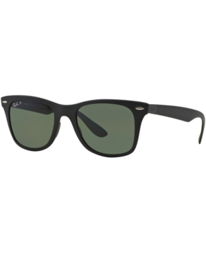 Image of Ray-Ban Polarized Polarized Sunglasses, RB4195 Wayfarer Liteforce