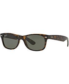 Ray-Ban Polarized New Wayfarer Sunglasses, RB2132 55