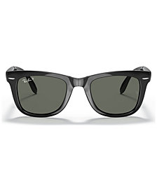 Ray-Ban Polarized Sunglasses, RB4105 50 Folding Wayfarer