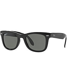 Ray-Ban Polarized Sunglasses, RB4105 Folding Wayfarer