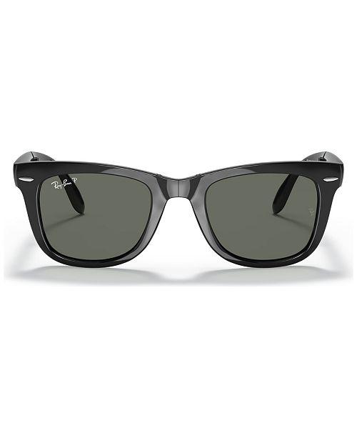 a37eb2d309e3 Ray-Ban Polarized Sunglasses , RB4105 FOLDING WAYFARER & Reviews ...