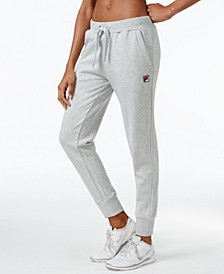Frances Ribbed-Cuff Jogger Pants