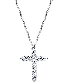 Diamond Cross Pendant Necklace (1/2 ct. t.w.) in 14k White Gold