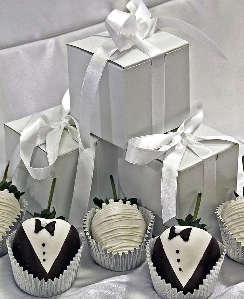 Chocolate Covered Company Wedding Favors Bride & Groom Belgian ...