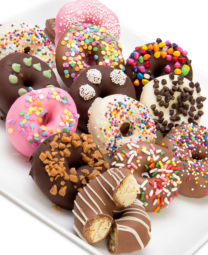 Chocolate Covered Company - 12-Pc. Ultimate Toppings Chocolate Covered Mini Donuts