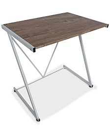 Zach Z-Desk with Wood, Quick Ship