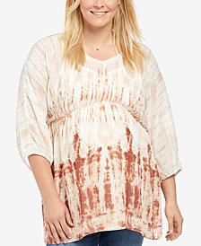Motherhood Maternity Plus Size Printed Blouse