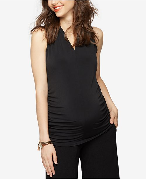 A Pea in the Pod Maternity Ruched Tank Top