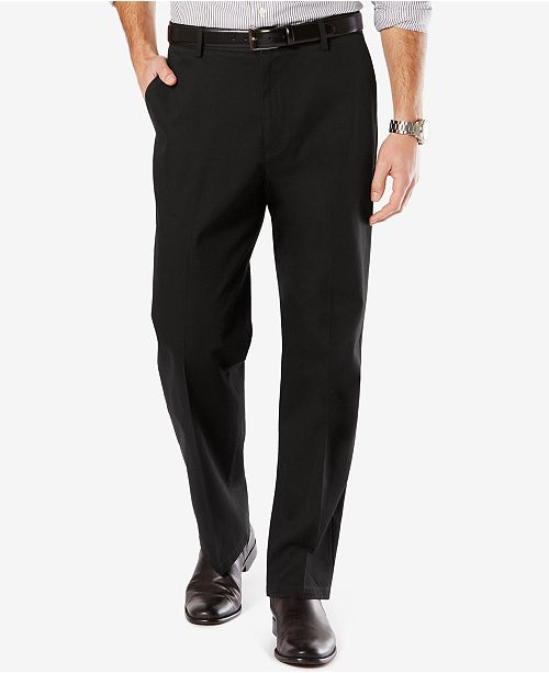 7d96a1cc1bcd4 Dockers Men s Stretch Relaxed Fit Signature Khaki Pants D4   Reviews ...