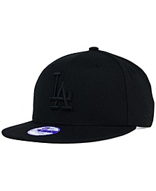 Kids' Los Angeles Dodgers Black on Black 9FIFTY Snapback Cap