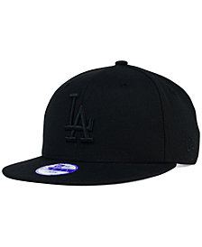 New Era Kids' Los Angeles Dodgers Black on Black 9FIFTY Snapback Cap