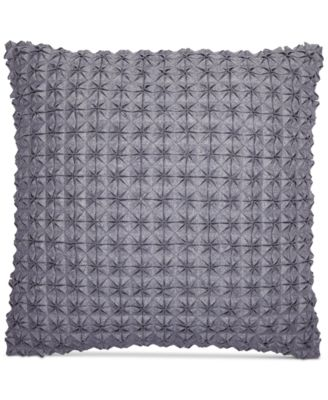 "Modern Plaid 18"" Square Decorative Pillow, Created for Macy's"