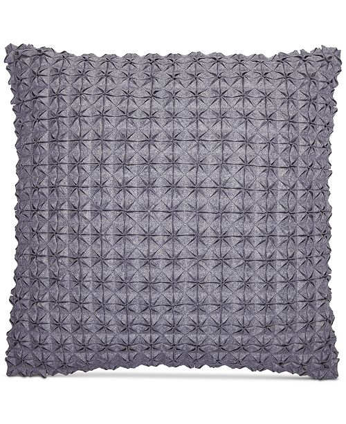 """Hotel Collection CLOSEOUT! Modern Plaid 18"""" Square Decorative Pillow, Created for Macy's"""
