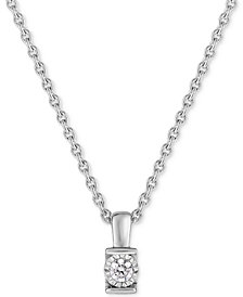 TruMiracle® Diamond Channel-Set Pendant Necklace (1/6 ct. t.w.) in 14k White Gold