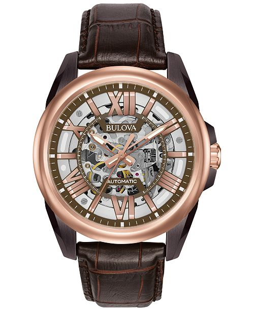 for watches leather s strap by timex watch brown men browse type shop