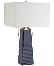 kathy ireland Home by Pacific Coast Ceramic Blue Table Lamp