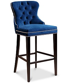 Harri Tufted Bar Stool, Quick Ship