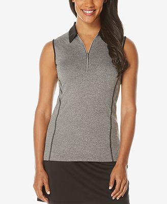 PGA TOUR SunFlux UPF 50 Protection Sleeveless Polo Shirt