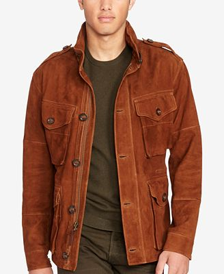 Polo Ralph Lauren Men's Suede Jacket - Coats & Jackets - Men - Macy's