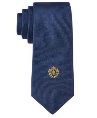 Boys' Solid Crest Tie