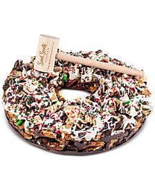 "Sweet Secrets Chocolate 11"" Christmas Wreath Pretzel Pizza"