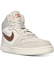 Nike Women's Court Borough Mid Premium Casual Sneakers from Finish Line