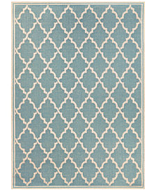 "Couristan Monaco Indoor/Outdoor Ocean Port Turquoise-Sand 2'3"" x 7'10"" Runner Area Rug"