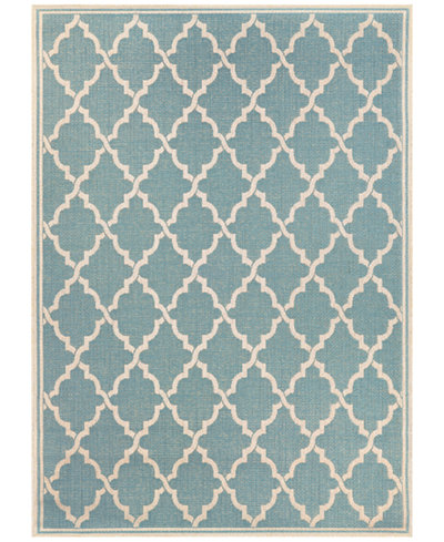 Couristan Monaco Indoor/Outdoor Ocean Port Turquoise-Sand 2'3