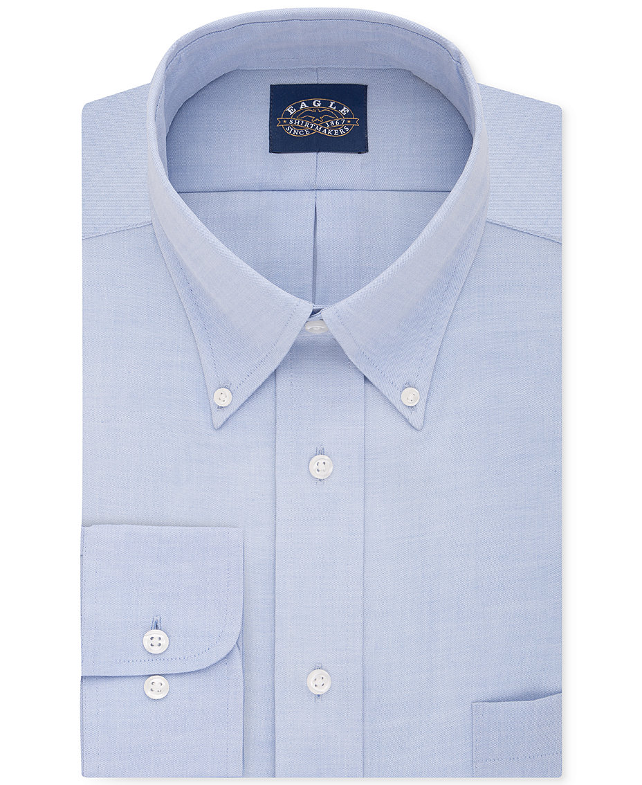 Eagle Mens Classic Fit Stretch Collar Non Iron Solid Dress Shirt